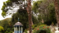 Beautiful a gazebo in the park video