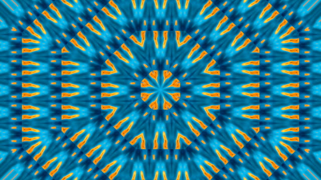 Beautiful abstract floral pattern in blue colors. video