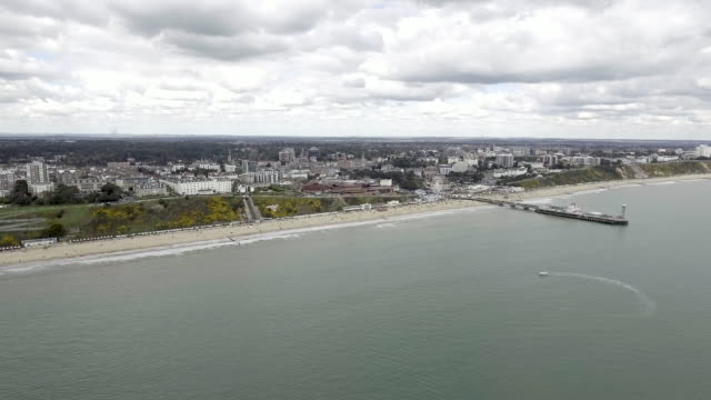 Beautiful Aerial View of Bournemouth Beach video