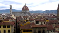 Beautiful aerial view of Florence and Duomo, Cathedral Santa Maria del Fiore. Italy. video
