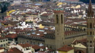 Beautiful aerial view of Florence from the observation platform of Duomo, Cathedral Santa Maria del Fiore. video