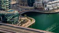 Beautiful aerial view timelapse of Dubai Marina at day time in Dubai, UAE video