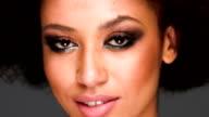 Beautiful African American woman video