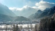 TIMELAPSE Beautiful alpine valley in winter video