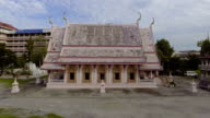 Beautiful Ancient Thai-Style Temple with Pink Color video