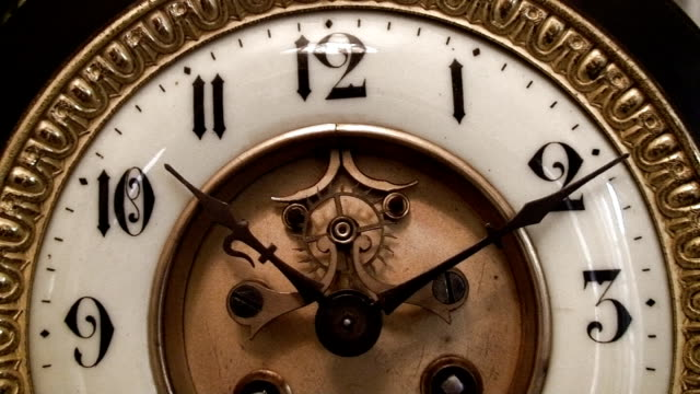 Beautiful Antique clock face video