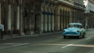 Beautiful architecture and classic american cars in Havana video