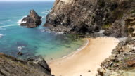 Beautiful Atlantic Ocean gold sand cove video