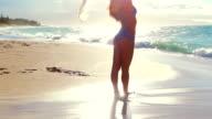 Beautiful Attractive Ethnic Woman in Bikini at the Beach video