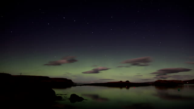 Beautiful Aurora Borealis. Time Lapse. video