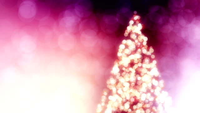 Beautiful background with Christmas tree loop video
