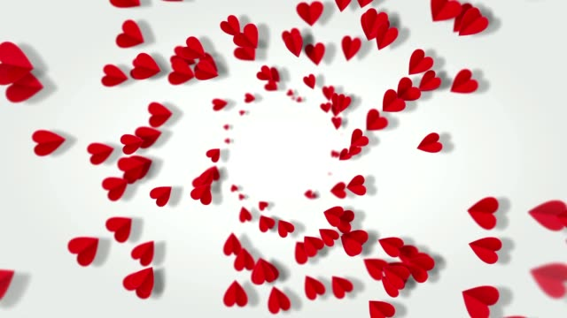 Beautiful background with hearts in the form of butterflies. Especially for wedding background or other. Seamless loop video