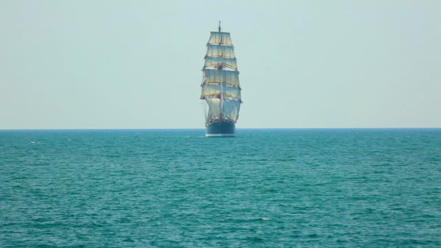 beautiful barque in full sail video