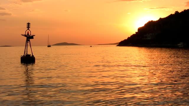 HD: Beautiful Bay At Sunset video