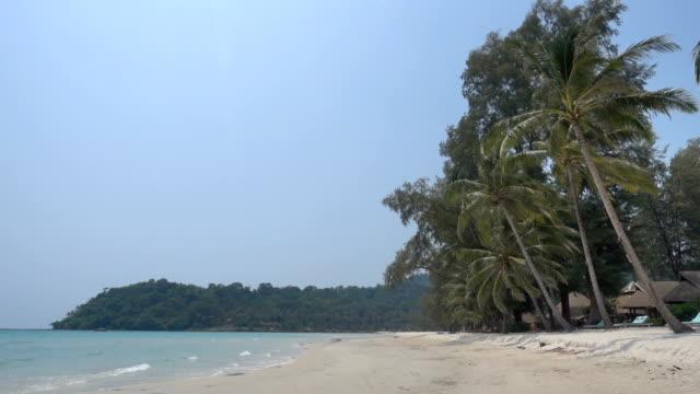 Beautiful beach and sea video