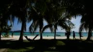 beautiful beach and tropical sea. video