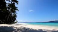 beautiful beach and tropical sea video