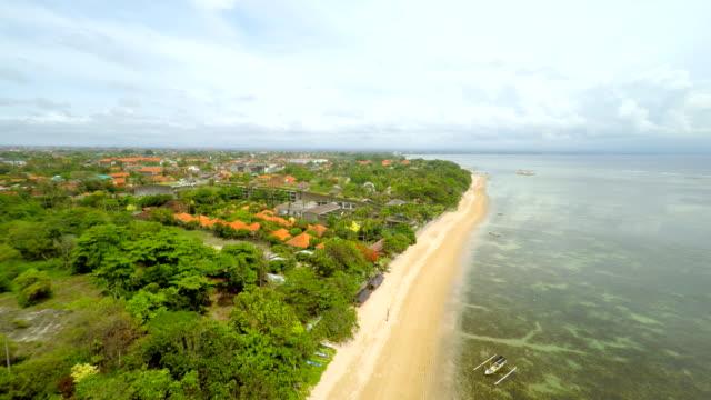 AERIAL Beautiful Beach In Bali video