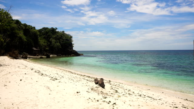 Beautiful beach on tropical island. Philippines, Bohol video