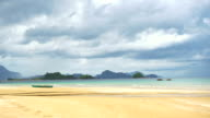 Beautiful beach on tropical island video