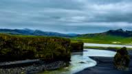 A beautiful black sand beach Reynisdrangar - basalt columns, towering 70 meters. Reynisdrangar beach, Iceland video
