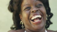 Beautiful black woman laughing video