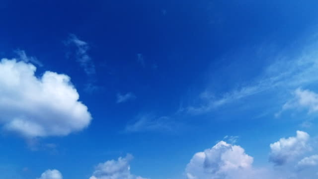 Beautiful blue sky and clouds time lapse video