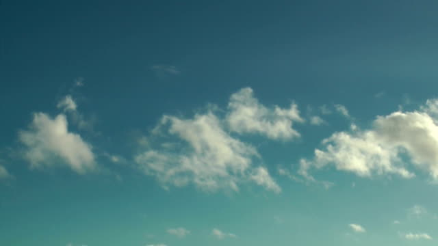 Beautiful blue sky and clouds video