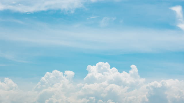 TL / Beautiful Blue sky white clouds. video