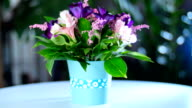 A beautiful bouquet will give a lot of happiness and joyful emotions on family holidays video