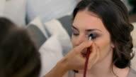 beautiful bride wedding make-up by make-up artist video