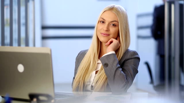 Beautiful business woman video