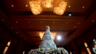 Beautiful Cake for wedding ceremony, Dolly Shoot move in HD VDO video