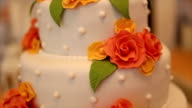 Beautiful Cake for wedding ceremony video
