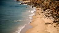 Beautiful California Beach Timelapse. The Pacific Ocean Meets the Beach. video