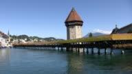 Beautiful Chapel Bridge in Luzerne video