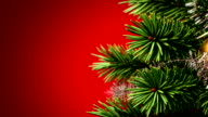 beautiful Christmas tree background video