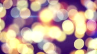 beautiful circle bokeh of holiday lights loopable background video