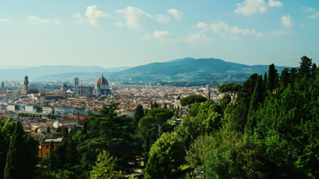 Beautiful cityscape of Florence in Italy. A popular destination among tourists from all over the world video