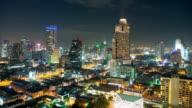 Beautiful cityscape time lapse of Bangkok video