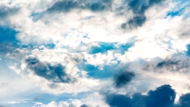 Beautiful clouds in motion timelapse video