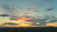HD TIME-LAPSE: Beautiful Cloudscape At Sunset video