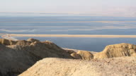 Beautiful coast of the Dead Sea . video