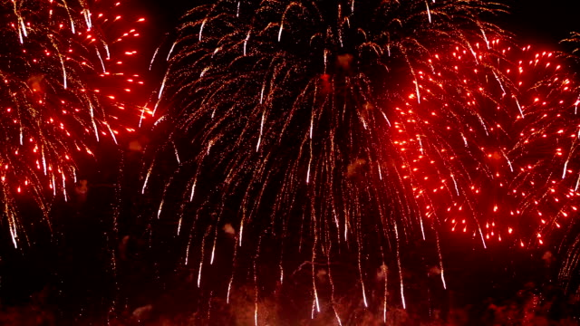 HD - Beautiful colorful firework video