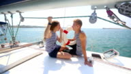 beautiful couple on board a cruise boat video