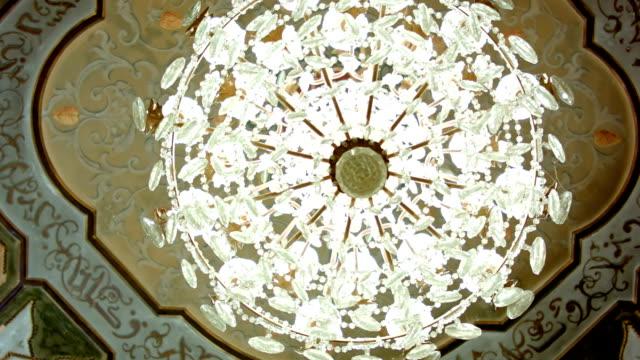 Beautiful crystal chandelier video