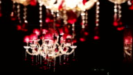 Beautiful crystal chandelier video