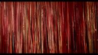 Beautiful Curtain ribbons. Wind. 2 shots. video