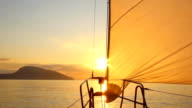 beautiful dawn sailing video