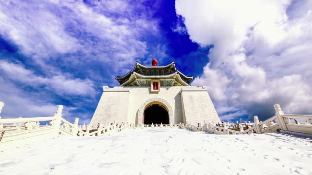 Beautiful day of Chiang Kai-shek Memorial Hall, Taipei, Taiwan video